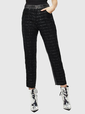 P-GITTE-NEW, Negro/Gris oscuro - Pantalones