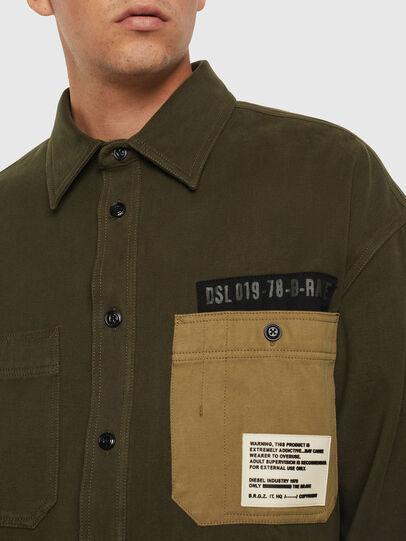 Diesel - S-LEBED, Verde Oscuro - Camisas - Image 3