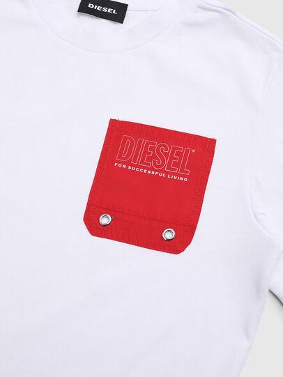 Diesel - TBMOW, Blanco/Rojo - Camisetas y Tops - Image 3