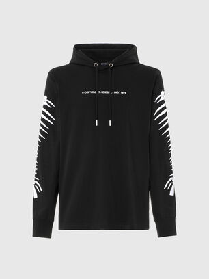 T-JUST-LS-HOOD-A6, Negro - Camisetas