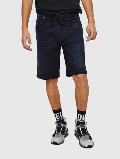 Diesel - D-WILLOH CB JOGGJEANS, Azul Oscuro - Shorts - Image 1
