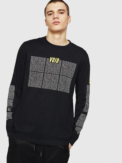 Diesel - T-JUST-LS-NEW, Negro - Camisetas - Image 1