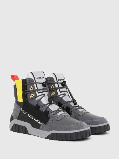 Diesel - S-RUA MID SP, Gris/Negro - Sneakers - Image 2