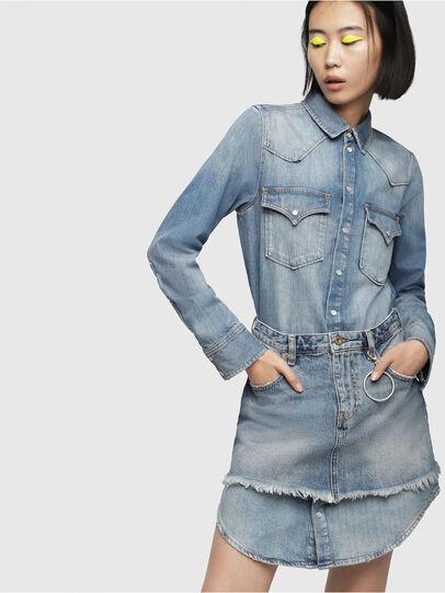 Diesel - DE-DESY-P, Blue Jeans - Vestidos - Image 1
