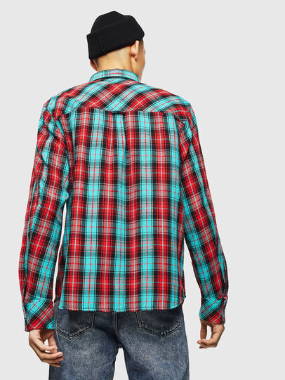 Diesel - S-GERRY-CHECK, Rojo - Camisas - Image 2