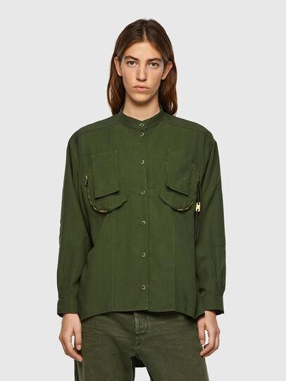 Diesel - C-EILEEN, Verde Oliva - Camisas - Image 1