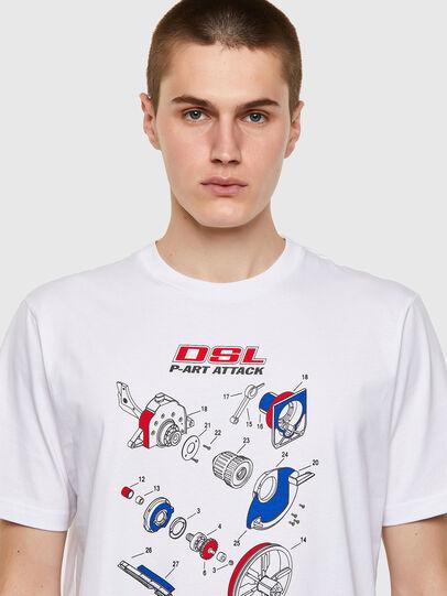 Diesel - T-JUST-B53, Blanco - Camisetas - Image 3