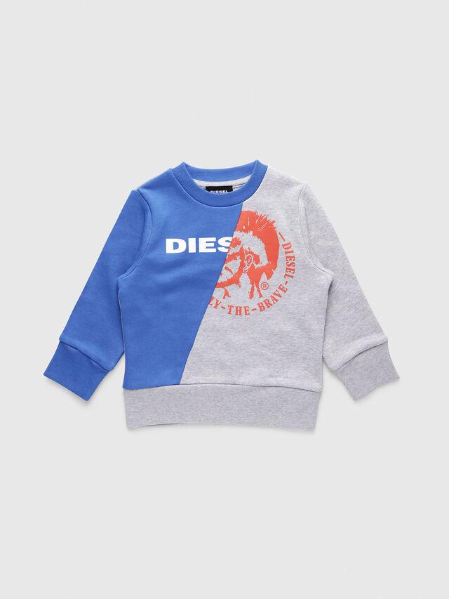 Diesel - SVETTEB-R, Gris/Azul - Sudaderas - Image 1