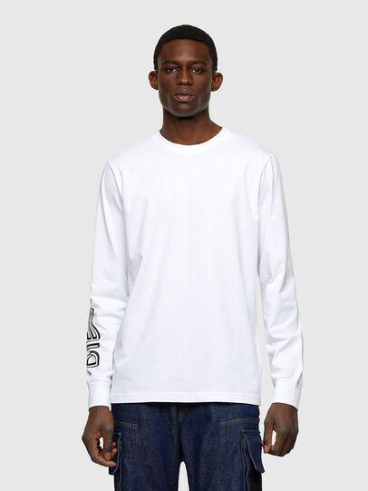 Diesel - T-JUST-LS-A7, Blanco - Camisetas - Image 1
