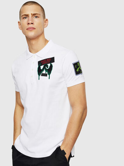 Diesel - T-POLO-PATCHES, Blanco - Polos - Image 1