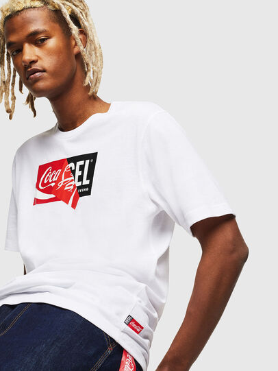 Diesel - CC-T-JUST-COLA, Blanco - Camisetas - Image 3