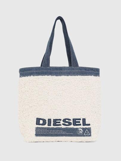 Diesel - F-THISBAG SHOPPER NS, Blanco/Azul - Bolsos Shopper y Al Hombro - Image 1