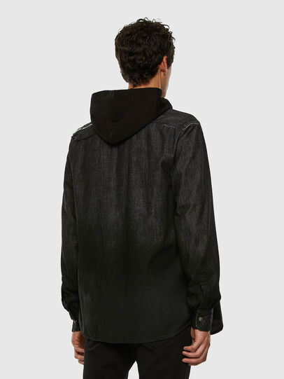 Diesel - D-NESKY, Negro - Camisas de Denim - Image 6