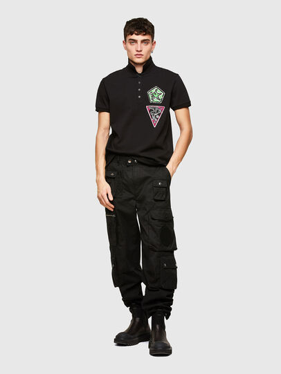 Diesel - T-WEET-E2, Negro - Polos - Image 4
