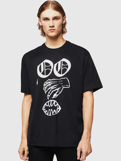 Diesel - TEORIALE-X2, Negro - Camisetas - Image 1