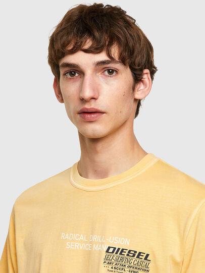 Diesel - T-JUBINDY-B1, Amarillo - Camisetas - Image 3