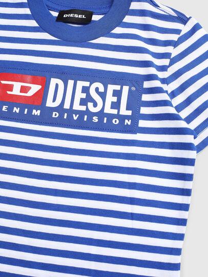 Diesel - TVIKB-R, Azul/Blanco - Camisetas y Tops - Image 3
