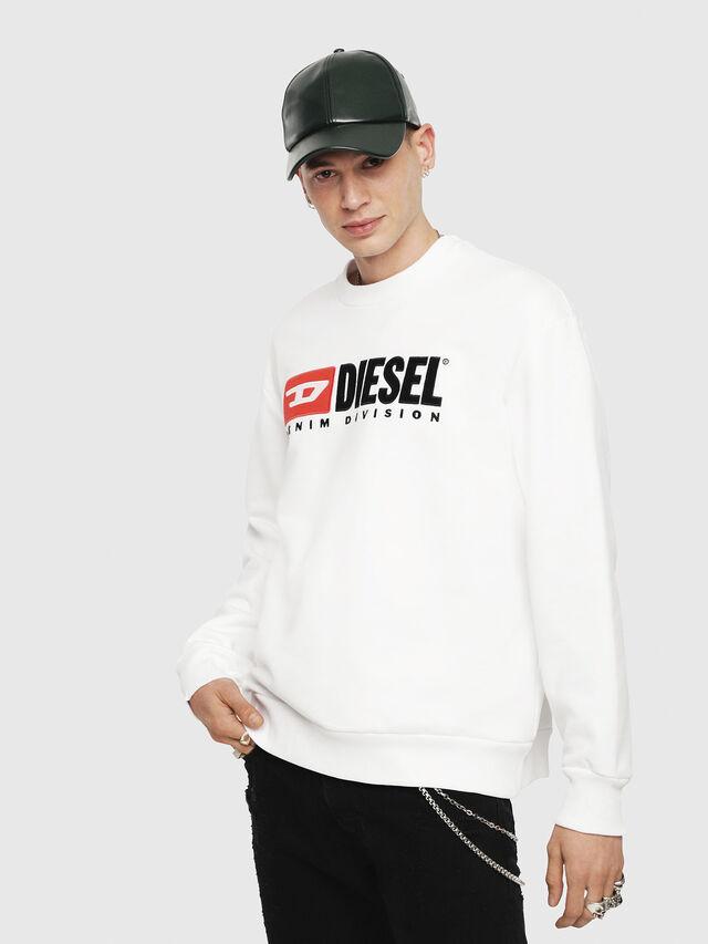 Diesel - S-CREW-DIVISION, Blanco - Sudaderas - Image 1