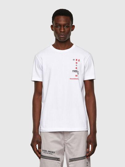 Diesel - T-DIEGOS-B4, Blanco - Camisetas - Image 1