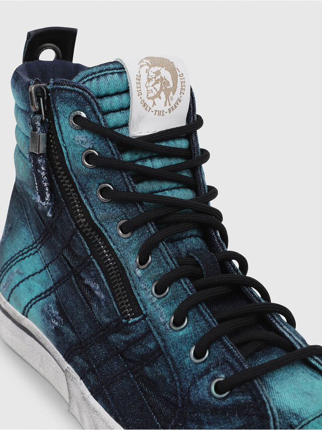 Diesel - D-VELOWS MID LACE, Azul Turquesa - Sneakers - Image 5
