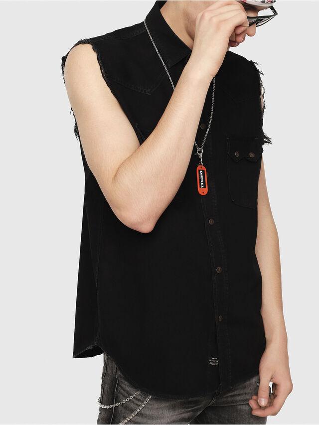 Diesel - D-KIRU, Negro - Camisas de Denim - Image 1