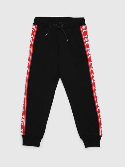 Diesel - PSUITA, Negro/ Rojo - Pantalones - Image 1