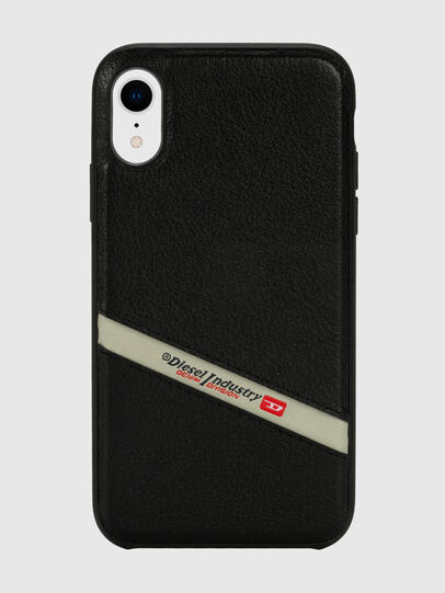 Diesel - DIESEL LEATHER CO-MOLD CASE FOR IPHONE XR, Negro - Fundas - Image 2