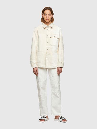 Diesel - D-HORUS-SP, Blanco - Camisas de Denim - Image 8