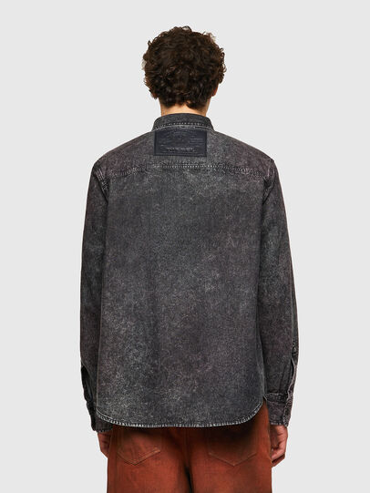 Diesel - D-WRAPP-SP, Negro - Camisas de Denim - Image 2