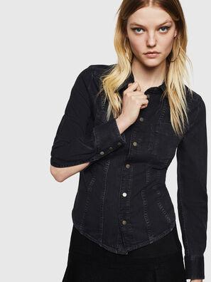 DE-FLYP, Negro/Gris oscuro - Camisas de Denim