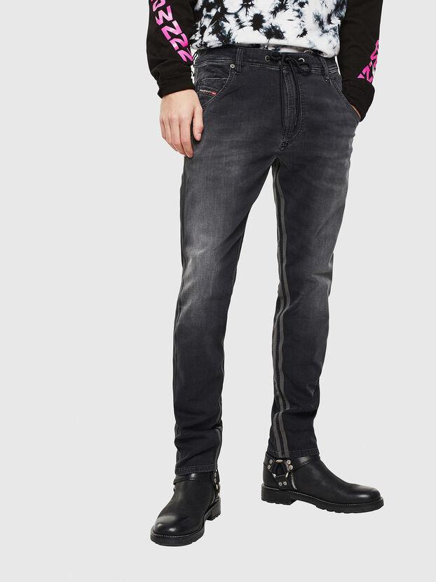Krooley JoggJeans 0094Q, Negro/Gris oscuro - Vaqueros