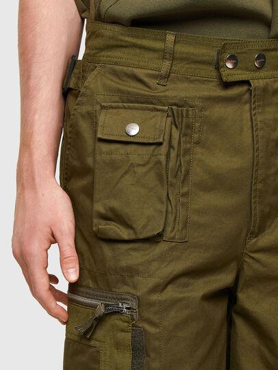 Diesel - P-CYAN-SHORT, Verde Militar - Shorts - Image 4