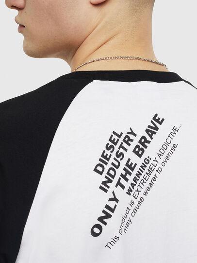 Diesel - T-RODDI, Blanco/Negro - Camisetas - Image 4