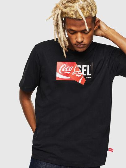 Diesel - CC-T-JUST-COLA, Negro - Camisetas - Image 1