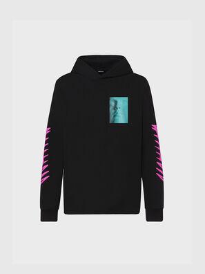 T-JUST-LS-HOOD-X30, Negro - Camisetas