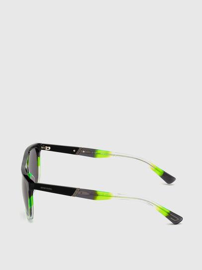 Diesel - DL0299, Negro/Verde - Gafas de sol - Image 3