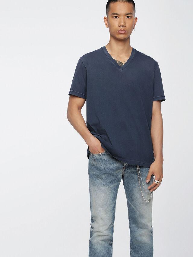 Diesel - T-KEITHS, Azul - Camisetas - Image 1