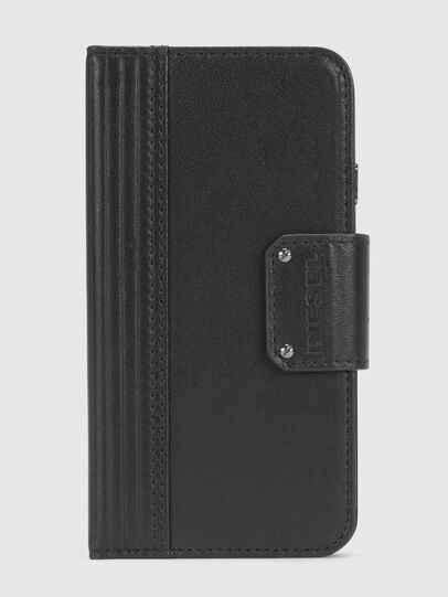 Diesel - BLACK LINED LEATHER IPHONE 8/7 FOLIO,  - Fundas tipo libro - Image 3