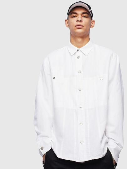 Diesel - D-FLOX, Blanco - Camisas de Denim - Image 1