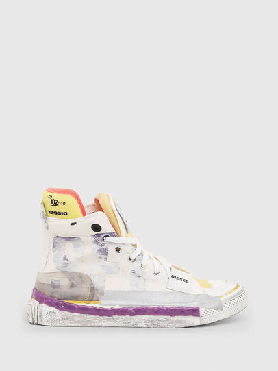 Diesel - S-ASTICO PNT W, Blanco/Rosa - Sneakers - Image 1