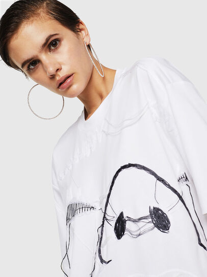 Diesel - TELIX, Blanco - Camisetas - Image 4