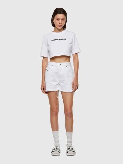 Diesel - T-RECROP, Blanco - Camisetas - Image 4