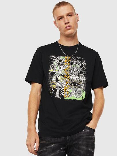 Diesel - T-JUST-J13, Negro - Camisetas - Image 1