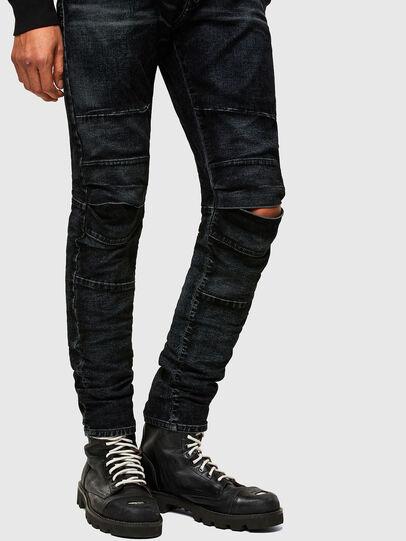 Diesel - D-Strukt JoggJeans® 069TG, Negro/Gris oscuro - Vaqueros - Image 8
