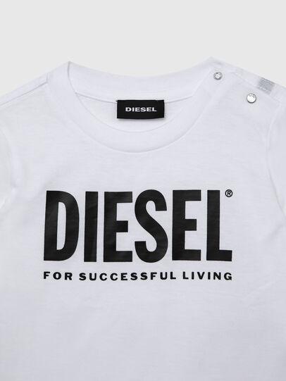 Diesel - TJUSTLOGOB ML, Blanco - Camisetas y Tops - Image 3