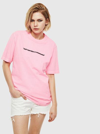 Diesel - T-JUST-NEON, Rosa - Camisetas - Image 2