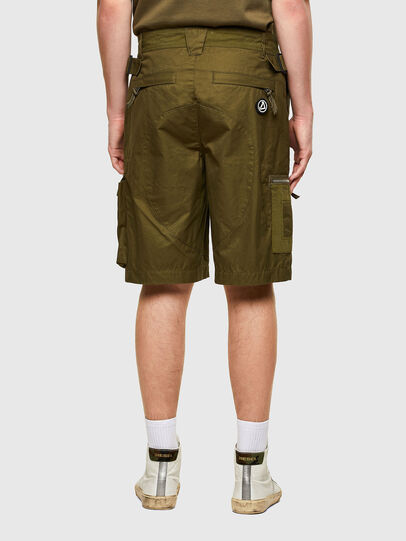 Diesel - P-CYAN-SHORT, Verde Militar - Shorts - Image 2