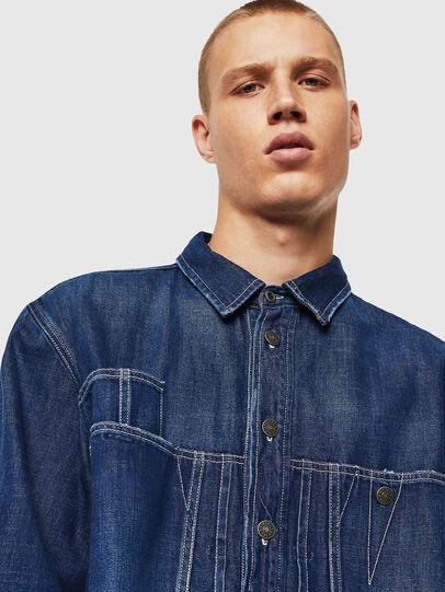 Diesel - D-FLOX, Azul medio - Camisas de Denim - Image 3