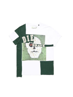 D-FRANKENSTEIN 2.1, Blanco/Verde - Camisetas