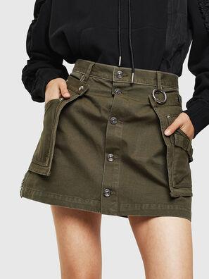 O-LADEL, Verde Militar - Faldas